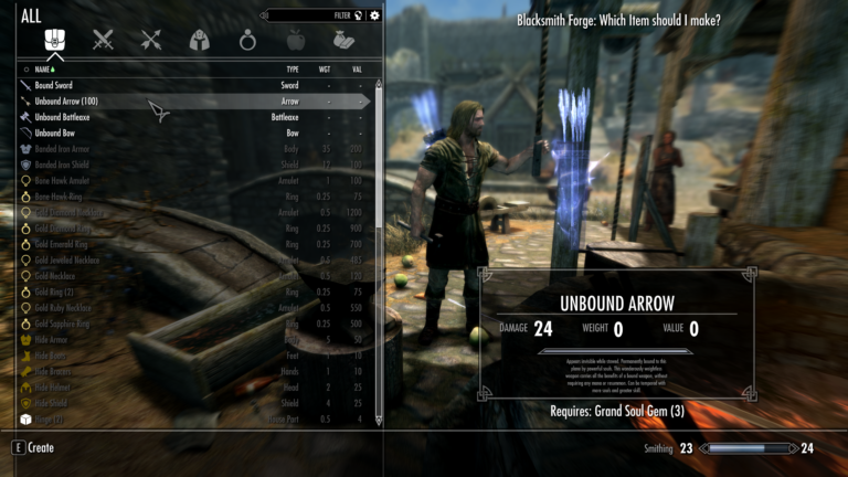 Craftable Bound Weapons: A Skyrim and Enderal SE mod release